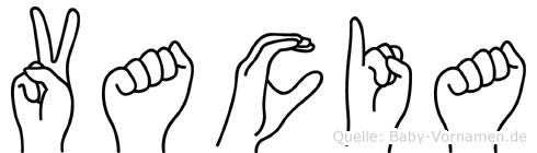 Vacia in Fingersprache für Gehörlose