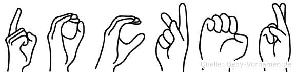 Docker in Fingersprache für Gehörlose