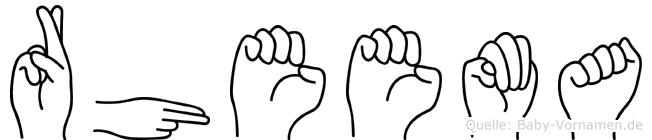 Rheema in Fingersprache für Gehörlose