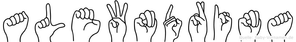 Alewndrina im Fingeralphabet der Deutschen Gebärdensprache