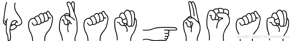 Parangusan im Fingeralphabet der Deutschen Gebärdensprache