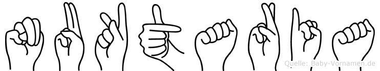 Nuktaria im Fingeralphabet der Deutschen Gebärdensprache