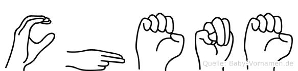 Chene in Fingersprache für Gehörlose