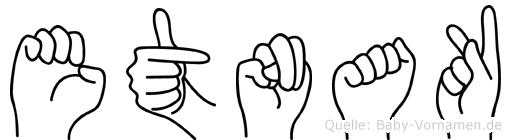 Etnak im Fingeralphabet der Deutschen Gebärdensprache