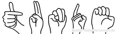 Tunde im Fingeralphabet der Deutschen Gebärdensprache