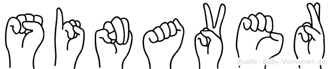 Sinaver im Fingeralphabet der Deutschen Gebärdensprache