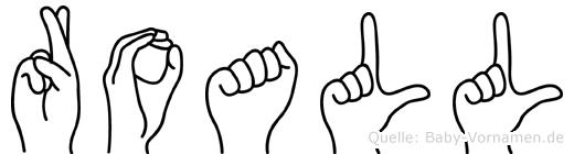 Roall im Fingeralphabet der Deutschen Gebärdensprache