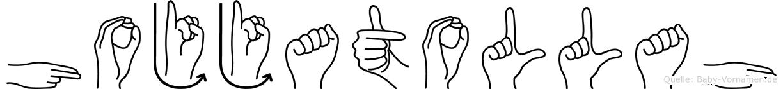 Hojjatollah im Fingeralphabet der Deutschen Gebärdensprache