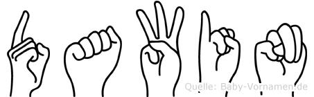Dawin in Fingersprache für Gehörlose