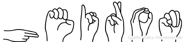Heiron in Fingersprache für Gehörlose