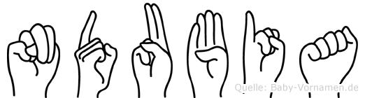 Ndubia in Fingersprache für Gehörlose
