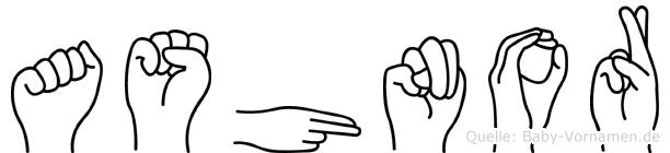 Ashnor in Fingersprache für Gehörlose