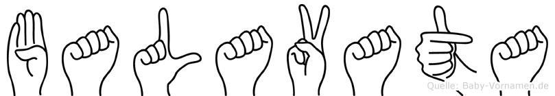 Balavata in Fingersprache für Gehörlose