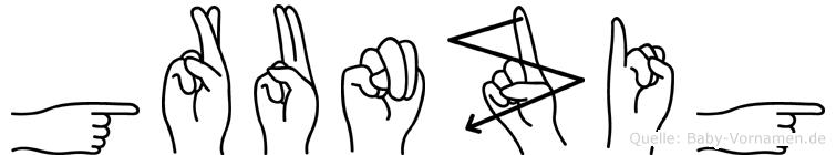 Grunzig in Fingersprache für Gehörlose