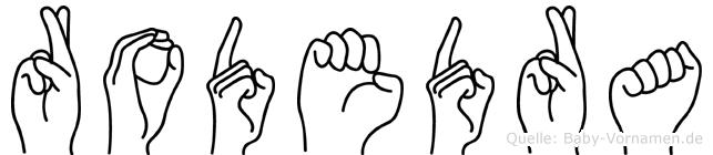 Rodedra im Fingeralphabet der Deutschen Gebärdensprache