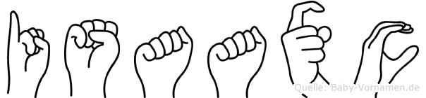 Isaaxc im Fingeralphabet der Deutschen Gebärdensprache