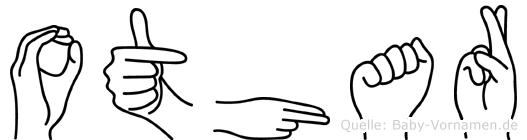 Othar im Fingeralphabet der Deutschen Gebärdensprache