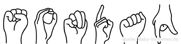 Sondaq im Fingeralphabet der Deutschen Gebärdensprache