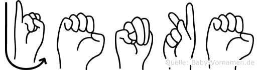 Jenke in Fingersprache für Gehörlose