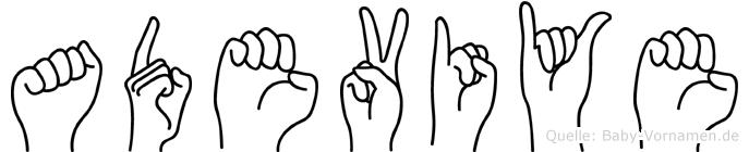 Adeviye in Fingersprache für Gehörlose