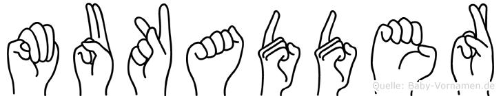 Mukadder in Fingersprache für Gehörlose
