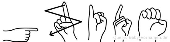 Güzide in Fingersprache für Gehörlose