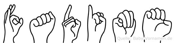Fadime in Fingersprache für Gehörlose