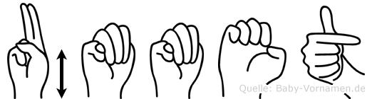 Ümmet in Fingersprache für Gehörlose