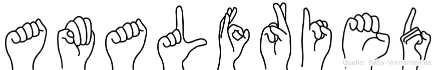 Amalfried in Fingersprache für Gehörlose