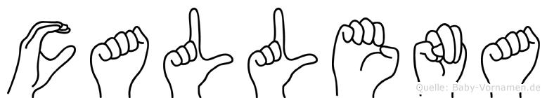 Callena in Fingersprache für Gehörlose
