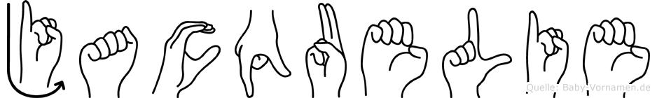 Jacquelie im Fingeralphabet der Deutschen Gebärdensprache