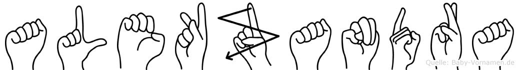 Alekzandra in Fingersprache für Gehörlose
