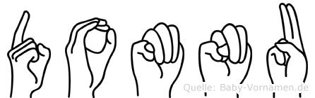 Domnu im Fingeralphabet der Deutschen Gebärdensprache
