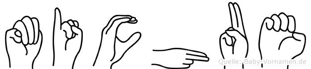 Michue im Fingeralphabet der Deutschen Gebärdensprache