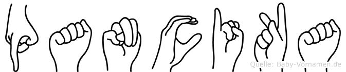 Pancika in Fingersprache für Gehörlose