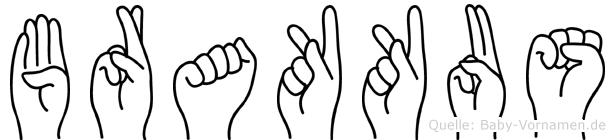 Brakkus in Fingersprache für Gehörlose
