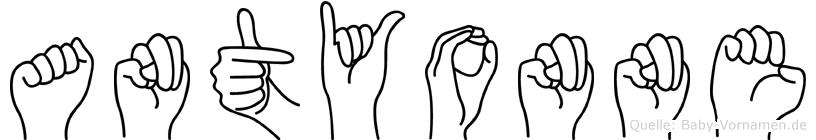 Antyonne in Fingersprache für Gehörlose