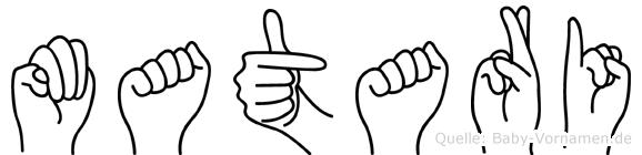 Matari in Fingersprache für Gehörlose