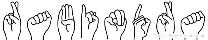 Rabindra im Fingeralphabet der Deutschen Gebärdensprache