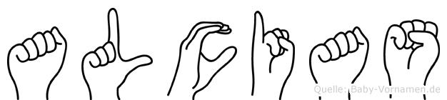 Alcias in Fingersprache für Gehörlose