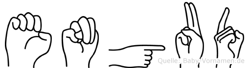 Engud im Fingeralphabet der Deutschen Gebärdensprache
