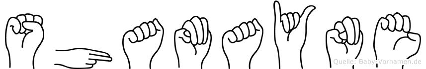 Shamayne in Fingersprache für Gehörlose