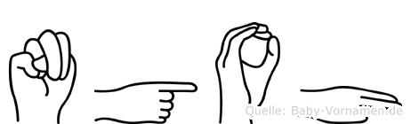 Ngoh in Fingersprache für Gehörlose