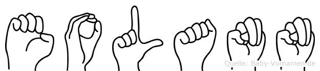 Eolann im Fingeralphabet der Deutschen Gebärdensprache