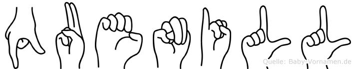 Quenill in Fingersprache für Gehörlose