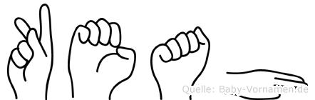 Keah in Fingersprache für Gehörlose