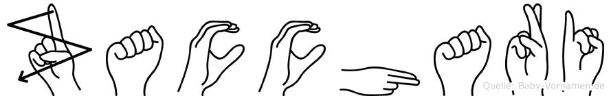 Zacchari im Fingeralphabet der Deutschen Gebärdensprache