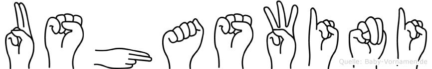 Ushaswini in Fingersprache für Gehörlose