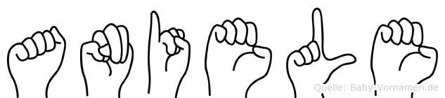 Aniele im Fingeralphabet der Deutschen Gebärdensprache