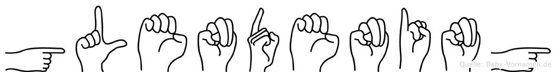 Glendening in Fingersprache für Gehörlose